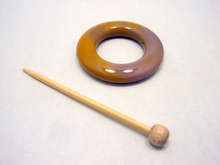 Natural Stone Shawl Pin ~ Mookaite Jasper ~ Pink and Yellow L1