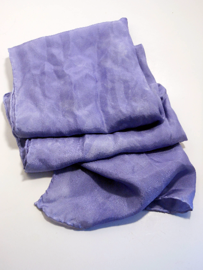 Hand Dyed Silk Scarf ~ 100% Pure Silk Habotai Scarf with Rolled Hems 15