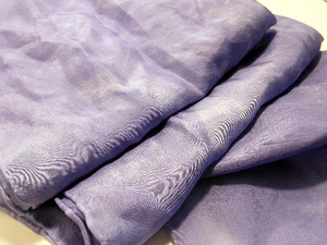 "Hand Dyed Silk Scarf ~ 100% Pure Silk Habotai Scarf with Rolled Hems 15"" x 60"" ~ Moonscape"