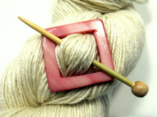 "Mother of Pearl Square Shawl Pin ""Nootka Rose"""