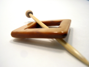 "Mother of Pearl Square Shawl Pin ""Nuuka"""