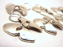 Silver Metal Stitch Markers ~ Nymphalidae ~ Set of 6 Butterfly Mask Stitch Markers