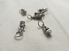 Silver Metal Stitch Markers ~ Oil Lamps ~ Set of 6