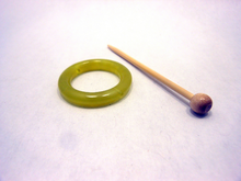 Natural Stone Shawl Pin ~ Olivine