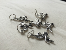 Silver Metal Stitch Markers ~ Pegasus ~ Set of 6