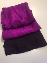 "Hand Dyed Silk Scarf ~ 100% Pure Silk Habotai Scarf with Rolled Hems 15"" x 60"" ~ So What? I'm Still A Rockstar! in Berry ~ Ombre Gradient"
