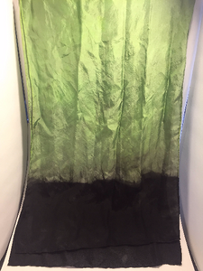 "Hand Dyed Silk Scarf ~ 100% Pure Silk Habotai Scarf with Rolled Hems 15"" x 60"" ~ So What? I'm Still A Rockstar! in Poison Apple Green"