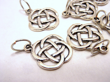 Handmade Silver Metal Stitch Markers ~ Round Celtic Knot ~ Set of 6