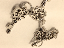 Handmade Silver Metal Stitch Markers ~ Silver Keys ~ Set of 6