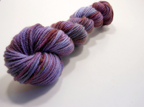 Samara ~ Hand dyed Pure Cashmere ~ 100 Yards ~ Hand Dyed Purple Blue Variegated Speckled Semisolid 8ply Cashmere Worsted Aran Weight
