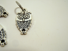 Handmade Silver Metal Stitch Markers ~ Screech Owls ~ Set of 6