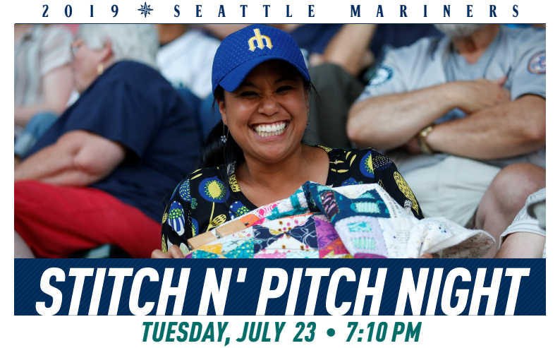 Seattle Mariner's Stitch N' Pitch Tickets!