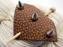 Studded Leather Shawl Pin ~ Shandor