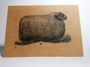 "Vintage Style 4X6"" Notecards ~ Sheep #8"