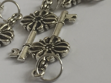 Handmade Silver Metal Stitch Markers ~ Skeleton Keys ~ Set of 6