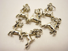 Handmade Silver Metal Stitch Markers ~ Baratheon Stags ~ Set of 6 ~ Inspired by Game of Thrones Great Houses