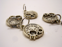 Handmade Silver Metal Stitch Markers ~ Steampunk ~ Set of 6