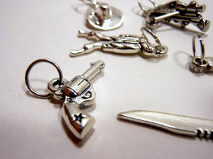 Handmade Silver Metal Stitch Markers ~ The Walking Dead ~ Set of 6