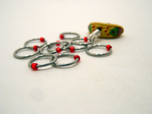Handmade Snagless  Metal Stitch Markers ~ Taco Tuesday ~ Set of 10