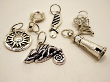 Handmade Silver Metal Stitch Markers ~ Tangled ~ Set of 6