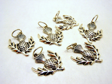 Handmade Silver Metal Stitch Markers ~ Thistle ~ Set of 6