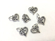 Handmade Silver Metal Stitch Markers ~ True Love ~ Set of 6
