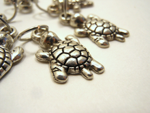 Handmade Silver Metal Stitch Markers ~ Turtles ~ Set of 6