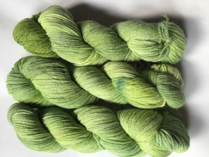 Pike: Windfall Hand Dyed Wool Angora Blend Fingering Weight Yarn
