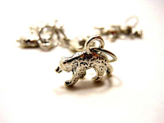Handmade Silver Metal Stitch Markers ~ Mormont Bears ~ Set of 6 ~ Inspired by Game of Thrones Great Houses