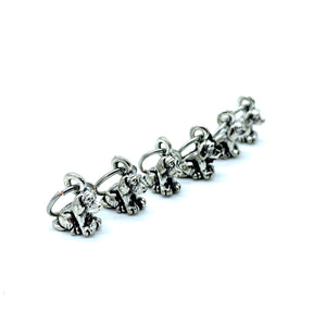 Handmade Silver Metal Stitch Markers ~ Good Boy ~ Set of 6