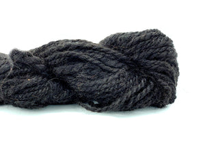 "Handspun Alpaca Yarn ~ Naturally Colored Bulky ""Friesian"" 80 yards"