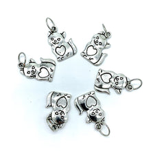Handmade Silver Metal Stitch Markers ~ Maple! ~ Set of 6