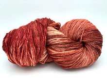 Mismated: Strawberry Ripple ~ Superwash Merino Wool and Silk
