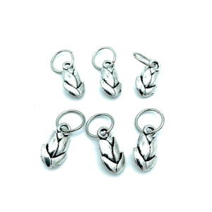 Handmade Silver Metal Stitch Markers ~ Tulips ~ Set of 6