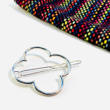 Silver Metal Shawl Pin ~ Clover