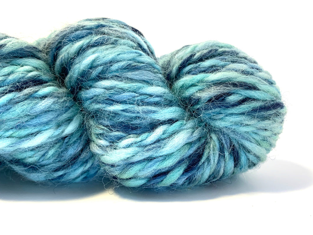 Handspun Yarn: Big Blue ~ Merino Wool