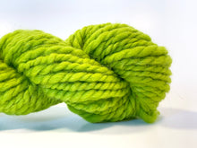 Handspun Wool  Yarn ~ Hand dyed Superbulky Chartreuse