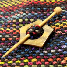 "Mother of Pearl Star Shawl Pin ""Mt Si"""