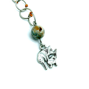 Snagless Beaded Chain Row Counter ~ Elephants