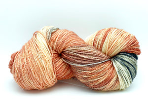 Mismated : Salmon Run ~ Superwash Merino Wool and Silk