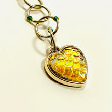 Snagless Beaded Chain Row Counter ~ Mermaid Heart Yellow