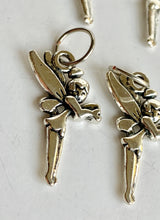 Handmade Silver Metal Stitch Markers ~ Tinkerbell ~ Set of 6
