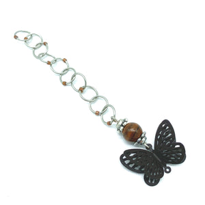 Snagless Beaded Chain Row Counter ~ Brown Butterfly