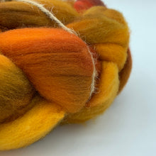 Hand Dyed 100% Australian Merino Wool Roving 4oz: Crunchy Leaves