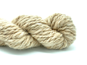 "Handspun Baby Alpaca Yarn ~ Naturally Colored Superbulky ""Dimmer"" 40 yards"