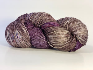 Mismated :  Shadow of Rainier ~ Superwash Merino Wool and Silk