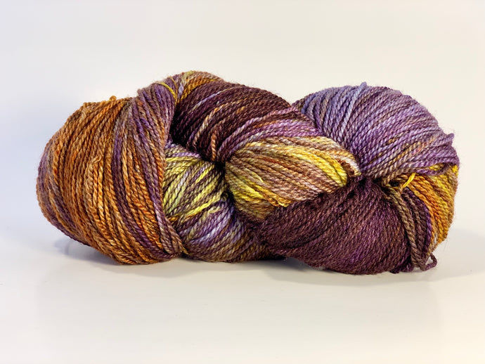Mismated :  Sunset ~ Superwash Merino Wool and Silk