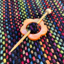 "Mother of Pearl Flower Shawl Pin ""Blossom"""