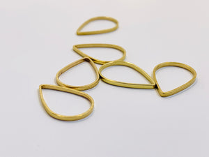 Gold Metal Stitch Markers ~ Raindrops ~ Set of 6