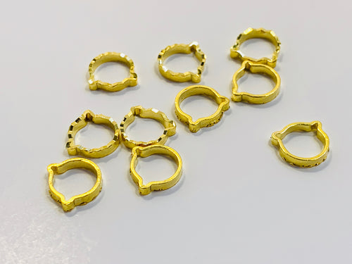 Gold Metal Stitch Markers ~ Golden Kittens ~ Set of 10